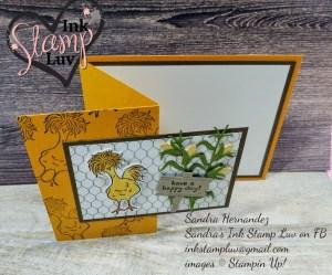 Chicken Card Fun Fold Stampin' UP! New Bundle