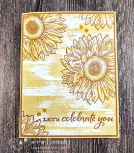 Celebrate Sunflower Simple Stamping