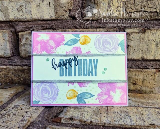 Artistically Inked Birthday Card