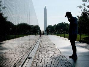 Vietnam Memorial mirror