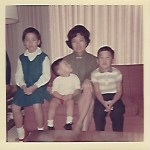 Mom, Mike, Phil and me