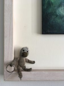 Curious monkey at home
