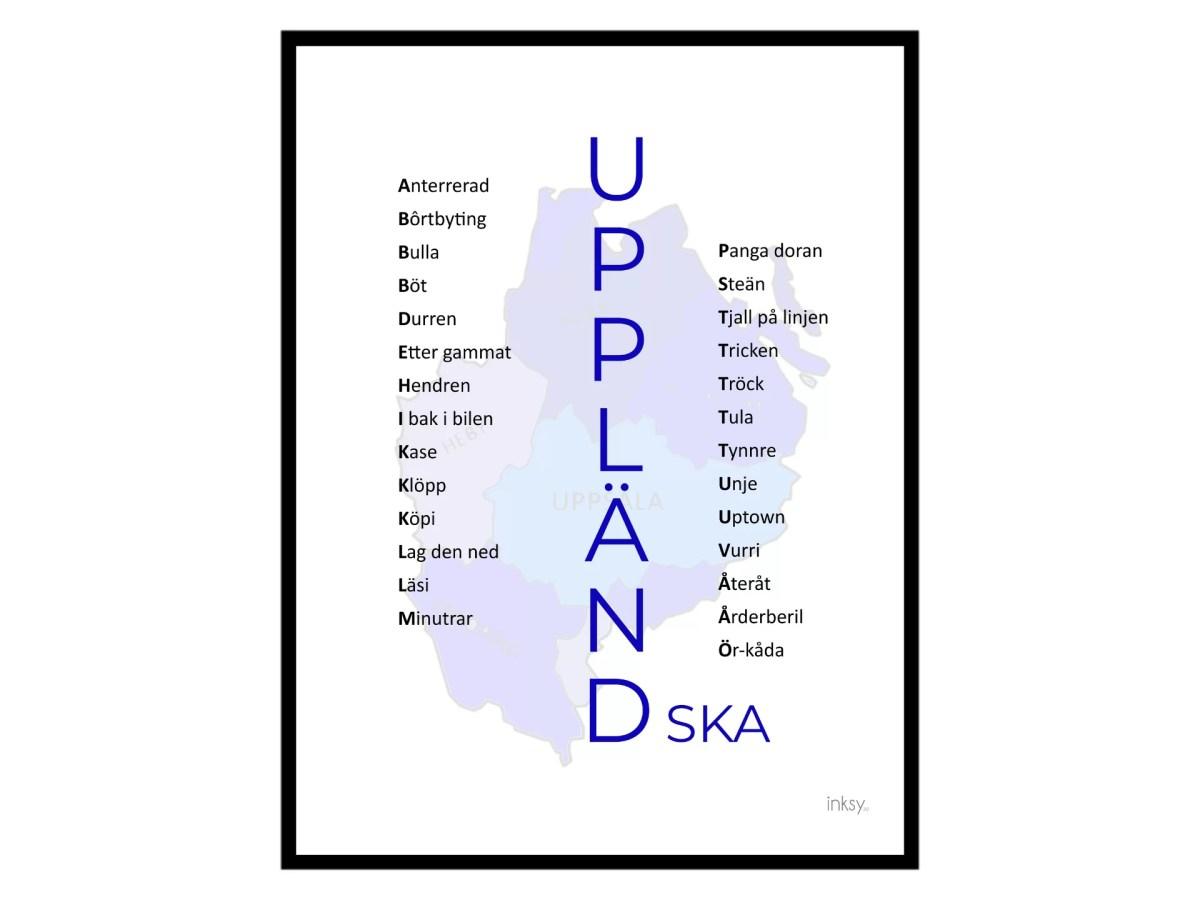 uppland uppländska tavla poster