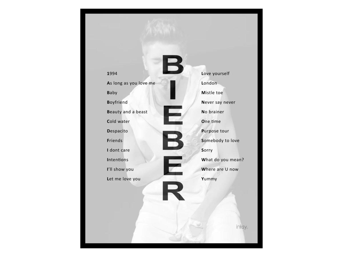 Justin Bieber tavla poster