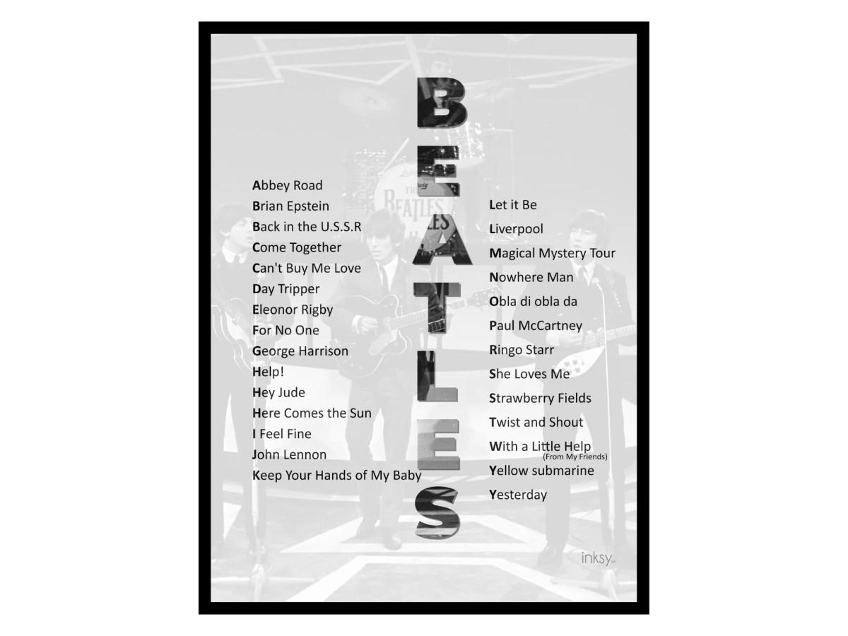 The Beatles tavla poster