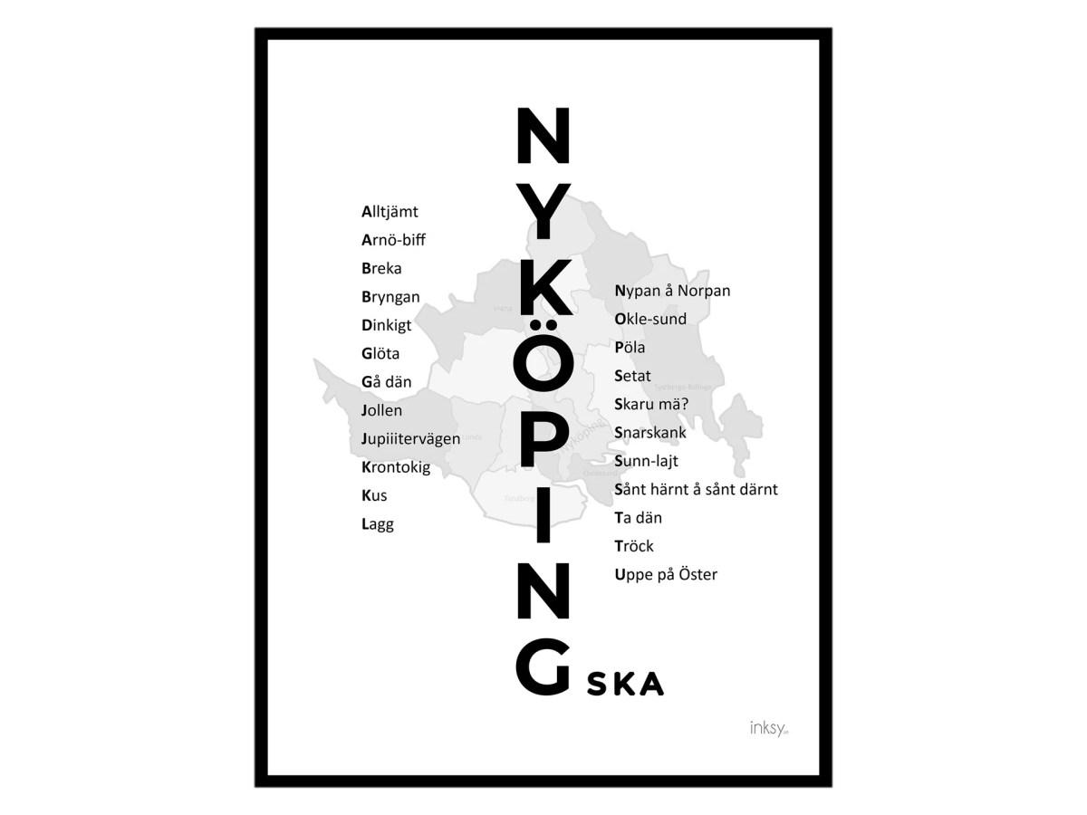 nyköping nyköpingska tavla dialekt