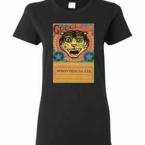 Gucci Tiger  Sprovveduta Età De Rerum Natura Women's T-Shirt