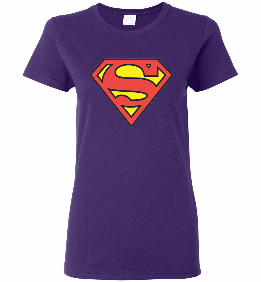 Superman S Shield Superman Logo Womens T Shirt