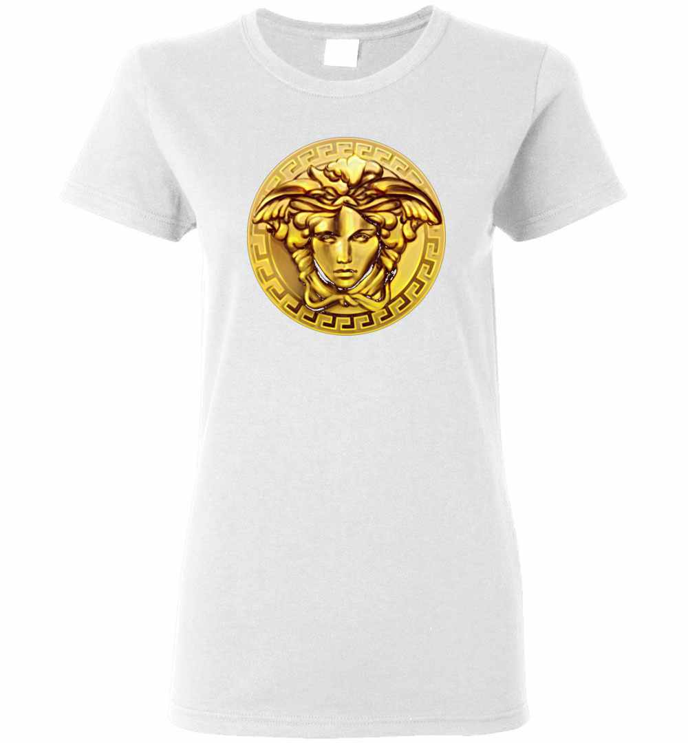 Gold And White Versace Shirt