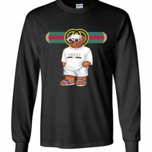 Bear In White Gucci Long Sleeve T-Shirt