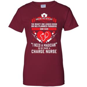 Charge Nurse T-Shirt With Heart and Nursing Gear Graphic