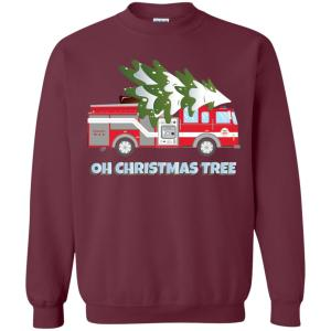 funny firefighter christmas gifts oh christmas tree sweatshirt amazon best seller