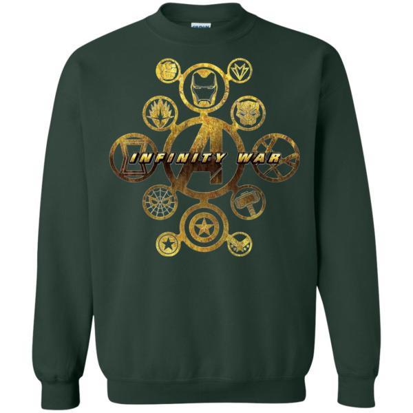 Marvel Avengers Infinity War Gold Hero Icons Sweatshirt Amazon Best Seller