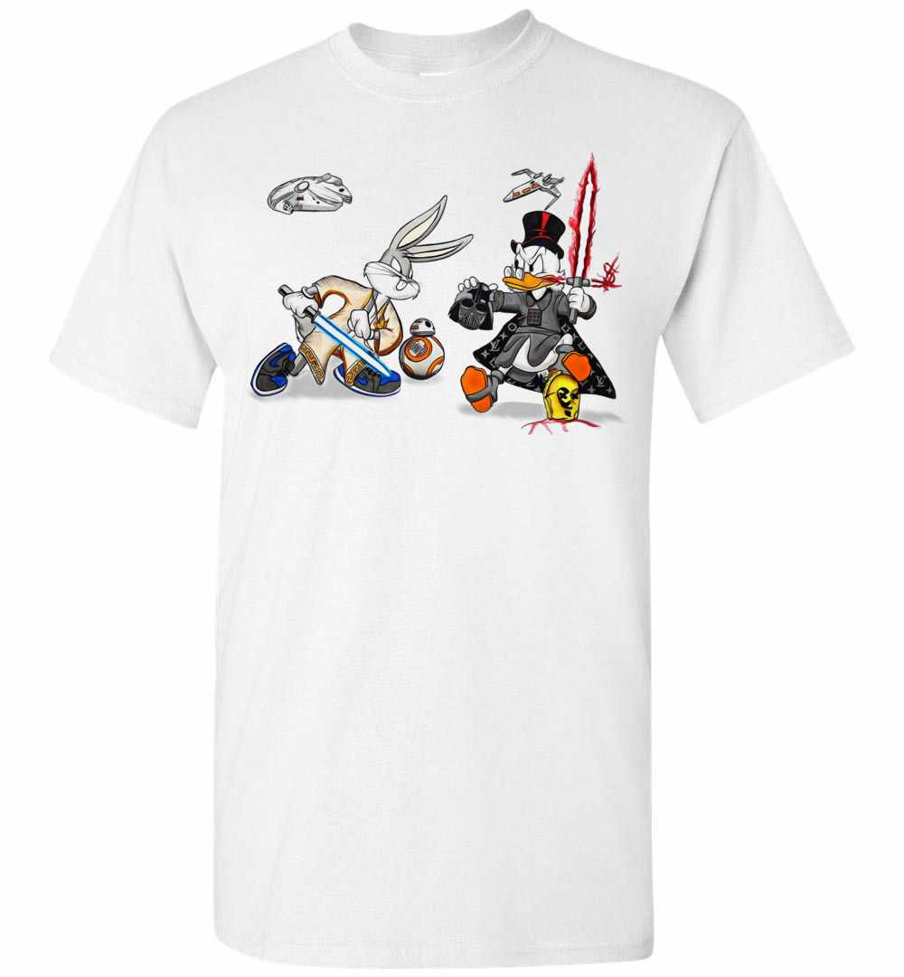 0a62981c Funny Bunny And Duck StarWars Men's T Shirt Amazon Best Seller