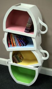 Stacked Cups Bookcase