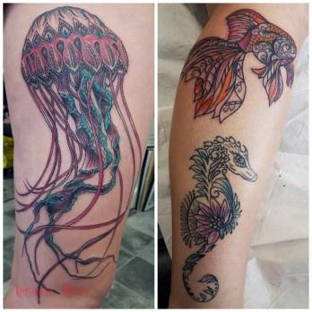 RACHEL swirly sea creatures