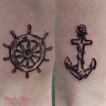 vicki ships wheel anchor