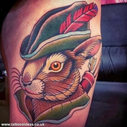 uk08246-Rabbit-Robin-Hood--tattoo-designs