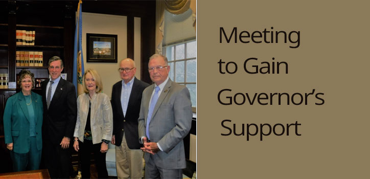 Inland Bays Foundation's Board of Directors met with Governor Carney