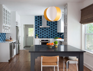 This Kitchen's Geometric Blue Tile Steals the Show (3 photos)