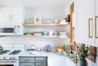 New This Week: We're Loving White Kitchen Cabinets With Brass (4 photos)