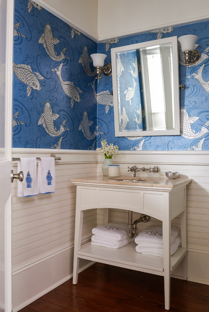 Fresh Inspiration: 8 Powder Rooms With Pattern-Happy Wallpaper (8 photos)