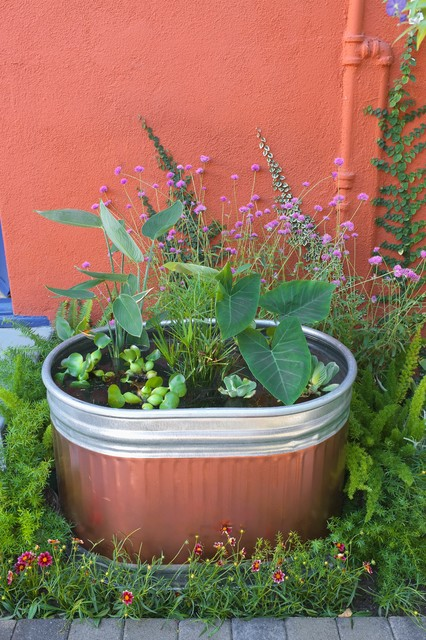 A Colorful DIY Water Garden for Your Patio (11 photos)