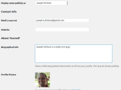 User Profile Example