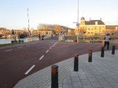 Muntbrug and surroundings. The building on the right is the munt (mint) itself.