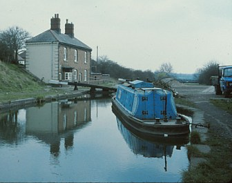 Bittell moored up at the top lock Perry Bar flight. Circa 1970. (Colin Scriviner photo)