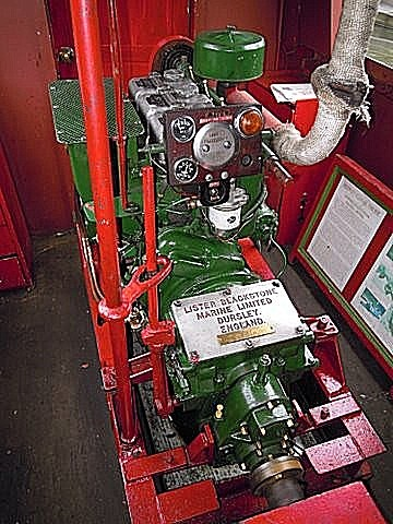 Bittell's H.A.Lister Engine. 3 Cylinders, Air Cooled, 33 H.P @ 1,800 r.p.m. With a Blackstone Gearbox Fitted.