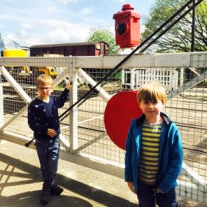 Both Boys are fascinated by level crossings...