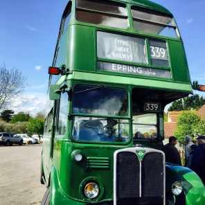 The heritage bus back to Epping... a GRAND day out...