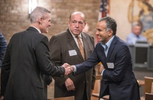 Don Howard, Ben Duran, and Karthick Ramakrishnan at the Capitol meeting of the Inland California Rising coalition meeting. February 19, 2019.