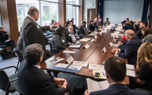 The Inland California Rising coalition at the Governor's Council Room, Sacramento. February 19, 2019.