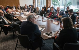 Anne O'Leary and Lenny Mendonca meet with members of the Inland California Rising coalition, State Capitol. February 19, 2019.