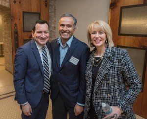 Speaker Anthony Rendon meets with Karthick Ramakrishnan and Ashley Swearengin, organizers of the Inland California Rising coalition, State Capitol. February 19, 2019.