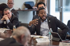Mayor Michael Tubbs and members of the Inland California Rising coalition meet with Governor staff, State Capitol. February 19, 2019.