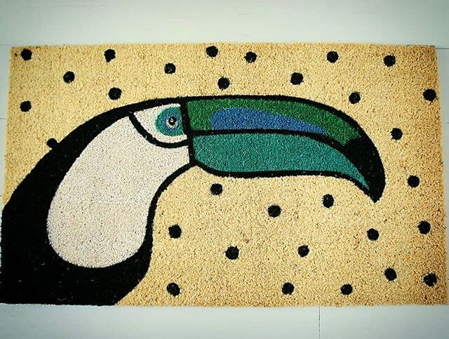 💚 Toucan doormat available now 💚 www.inlehome.co.uk