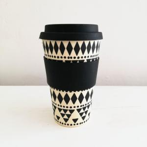 Scandi Boho Geo Bamboo Coffee Cup