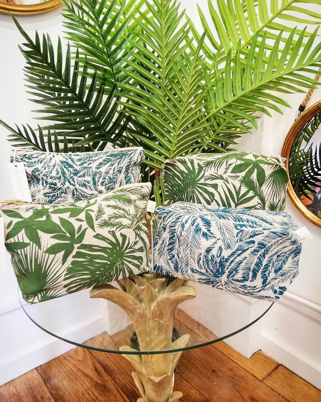💚 GORGEOUS new zip pouches and wash bags in store by the lovely @laragorlach