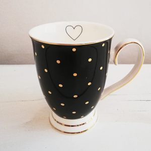 Black Mug With Gold Spots