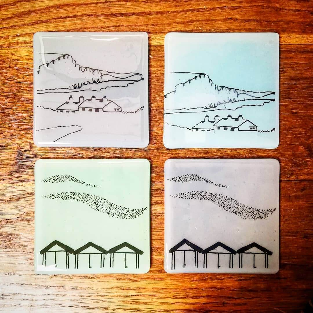 💚 Absolutely love these handmade glass coasters by @littlebeachboutique 💚 Proud to be stocking them here at Inle Home