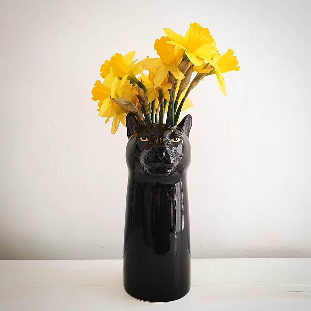 🖤 New guy! Please welcome this gorgeous black panther flower vase to the Inle family 🖤 Available online now at www.inlehome.co.uk