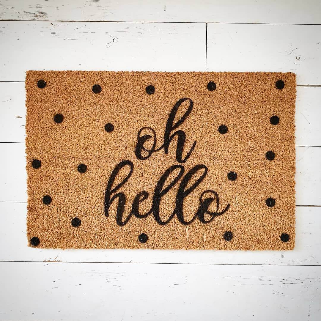 ♥️ Oh Hello new doormat! LOVE this 😍 Available now at www.inlehome.co.uk
