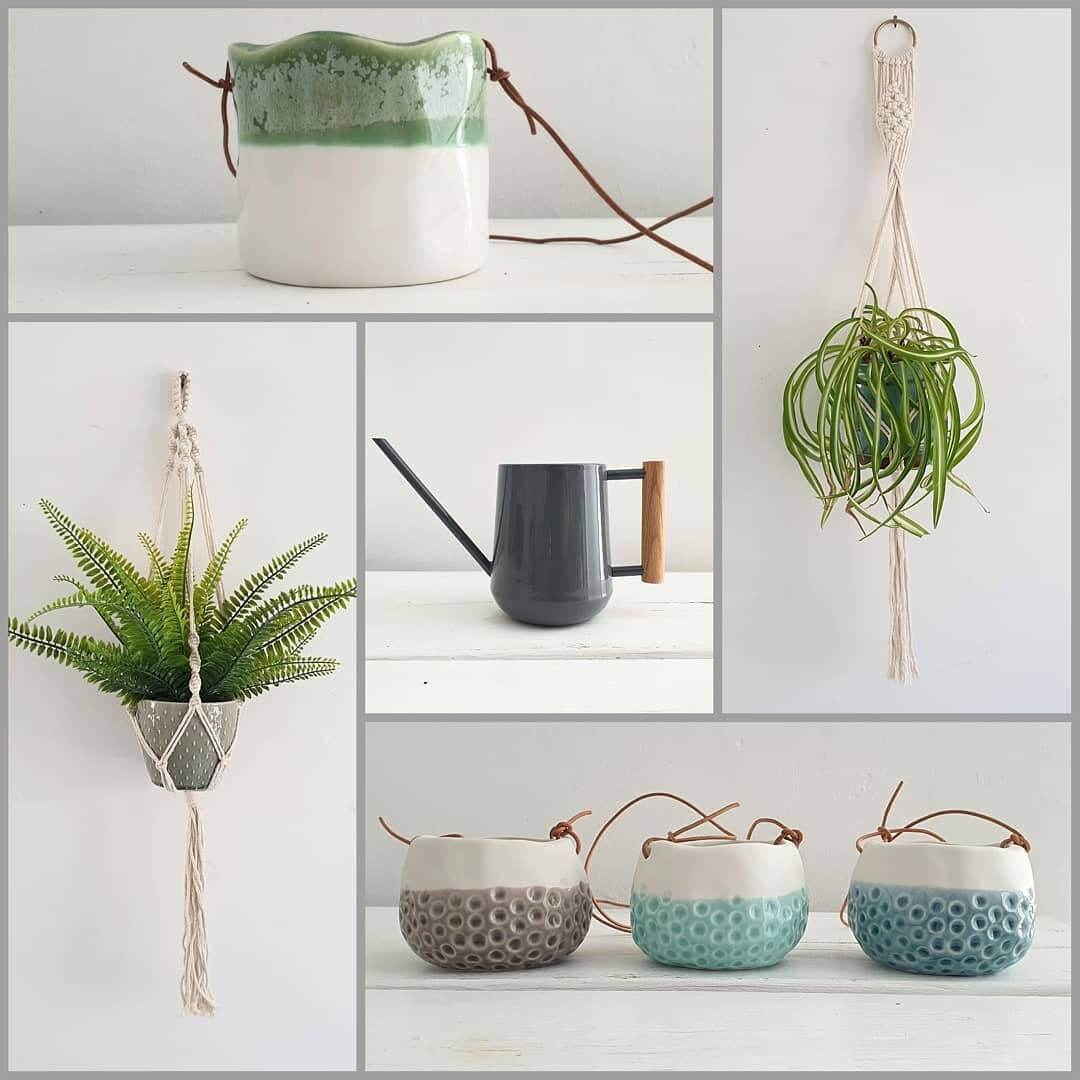 💚 NEW IN, AVAILABLE NOW 💚 . 💛We have added a few new lines to our Pots and Vases! Absolutely in love with these hanging pots and macrame💛 🌿Add a bit of green to your home. Visit https://inlehome.co.uk/product-category/pots-vases/ to see the full range