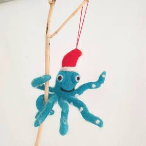 Felt Octopus Christmas Decoration by Felt So Good