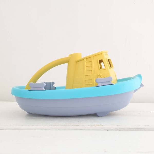 Tug Boat by Green Toys Yellow Cabin/Blue Base