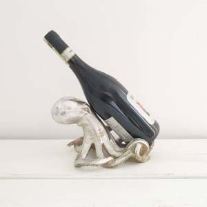 Silver Octopus Bottle Holder by McGowan Rutherford