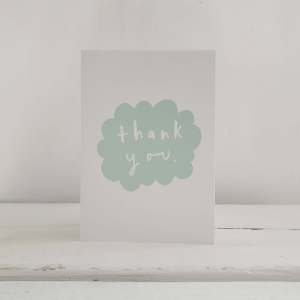 'Thank You' Bubble Greetings Card